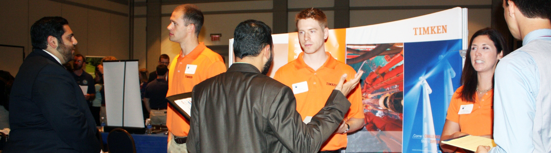 Students at career fair