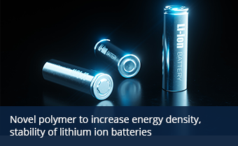 Stock image of lithium ion batteries