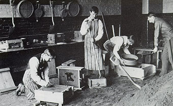Historical Photo of metal castings lab