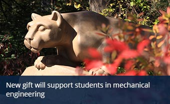 New gift will support students in mechanical engineering