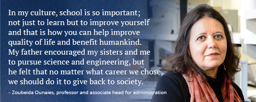 Female faculty member, quote about diversity and inclusion